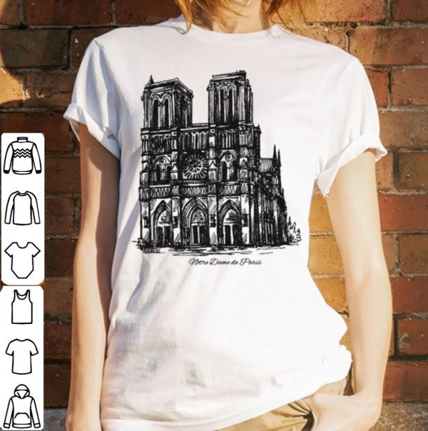 Pray For NotreDame Cathedral Paris shirt