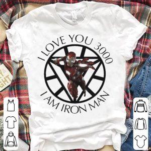 Avengers Endgame I am Iron Man Tony Stark I love you 3000 shirt