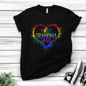 Free Grandma Hugs LGBT Heart Gay Flag Father Day shirt