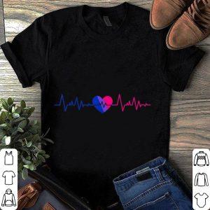 Pride LGBT Bisexual Heartbeat shirt