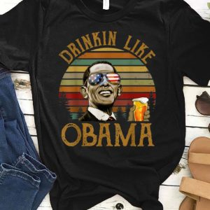 Vintage Drinkin Like Obama Ben Drankin Style shirt