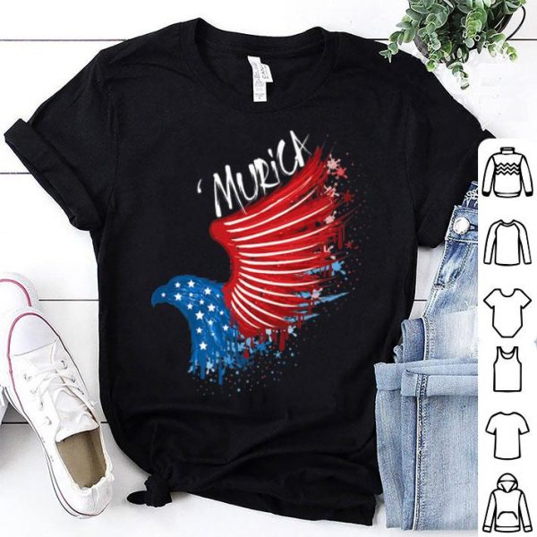 4th of July 'Murica Red White Blue Eagle shirt