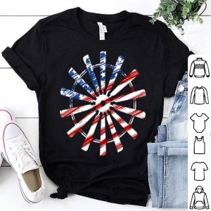 4th of July Windmill Vintage American Flag Pride shirt