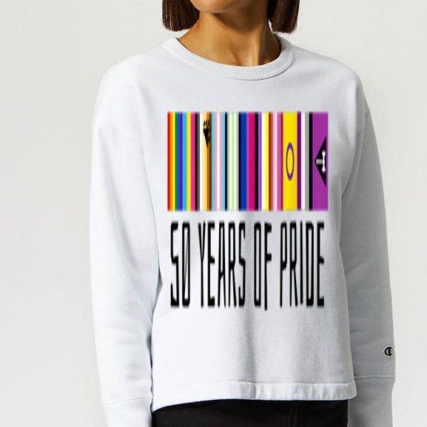 50th Anniversary NYC LGBT World Pride LBGTQ Flags of Diversity shirt