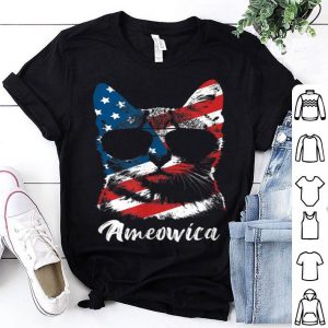 Ameowica Funny Cat Lover Patriotic 4th Of July Gifts shirt