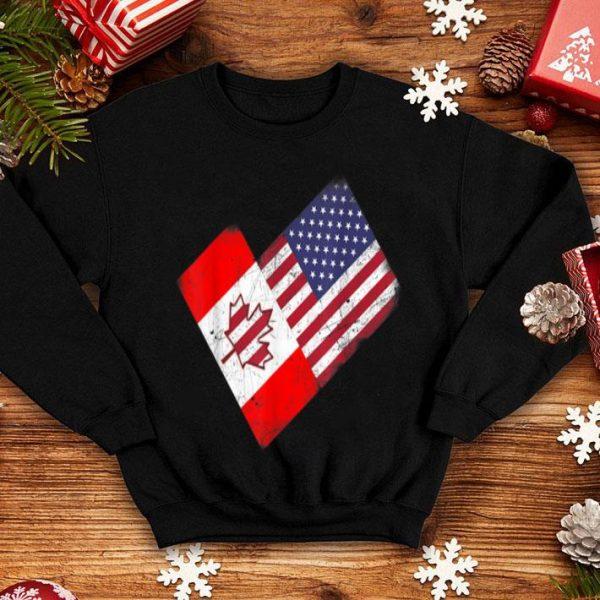 America Canada Flag Funny American Canadian Tee shirt