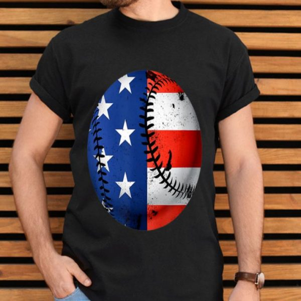 American Flag Baseball Patriotic Usa 4th Of July Gift Shirt