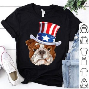 American Flag Bulldog Mercia Sunglass 4th Of July shirt