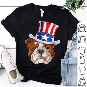 American Flag Bulldog Mercia Sunglass 4th Of July shirt