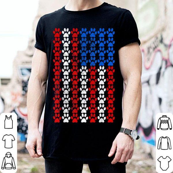 American Flag Dog Paw Pride Shirt