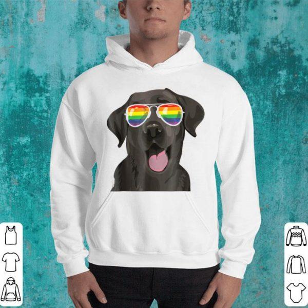 Black Lab Dog Gay Pride Flag Sunglasses Lgbt Shirt