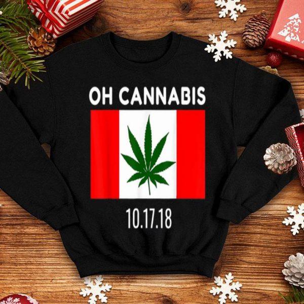 Canada Legalization Oh Cannabis Pot Leaf Flag Shirt