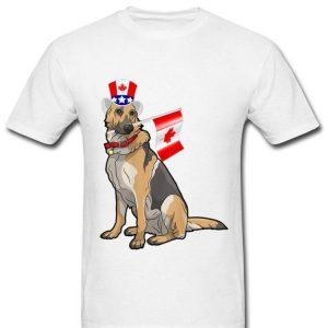 Canada Maple Leaf Germen Shepherd Canadian Flag Shirt