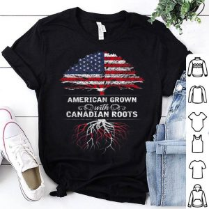 Canadian American Usa Canada Flag Canadian Roots Shirt