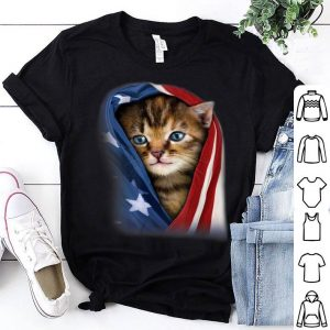 Cat Headscarf American Flag Patriot 4th Of July shirt