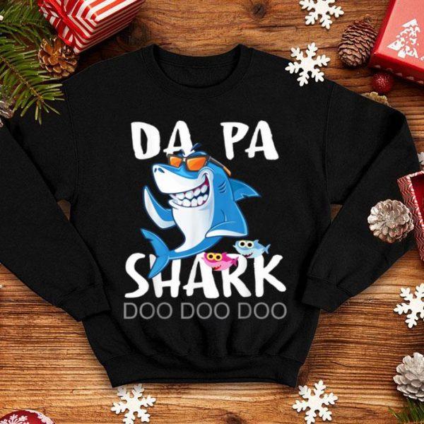 Da Pa Shark Fathers Day Wife Son Daughter shirt