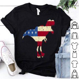 Dino USA American Flag Patriotic Dinosaur T-rex 4th Of July shirt