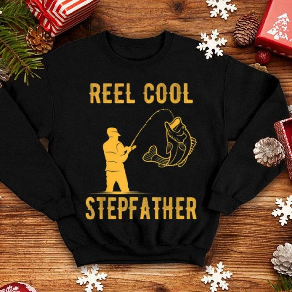 Fathers Day Reel Cool StepFather Fishing Lover shirt