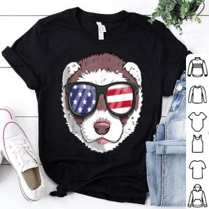 Ferret Patriotic Usa 4th Of July American Cute shirt