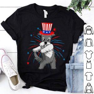 Flossing Miniature Schnauzer Firework 4th Of July Shirt
