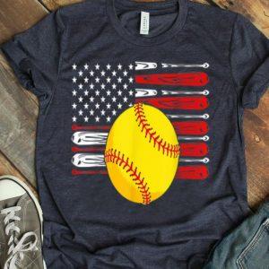 Fourth Of July Vintage Softball American Flag shirt