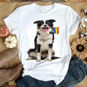 Gay Pride Flag Border Collie LGBT Pride Gifts Shirt