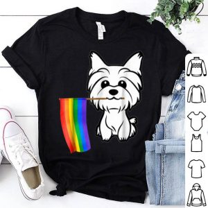 Gay Pride Flag Yorkshire Terrier for Dog Lovers Owners Shirt