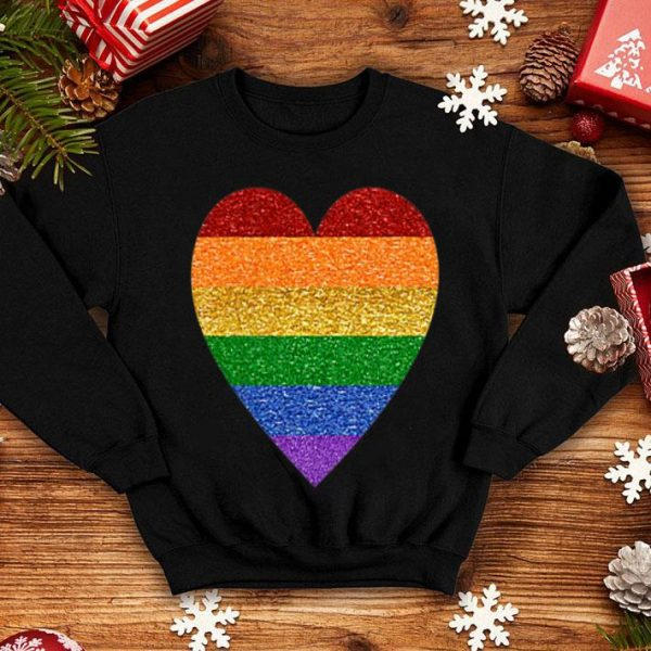 Heart Rainbow Lgbt Pride Month Proud Ally Shirt
