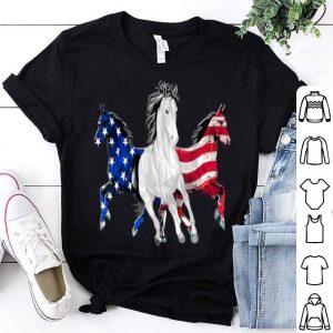 Horse American Flag Patriotic shirt