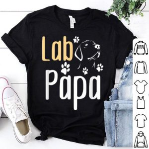 Lab Papa Labrador Retriever Dog Fathers Day shirt