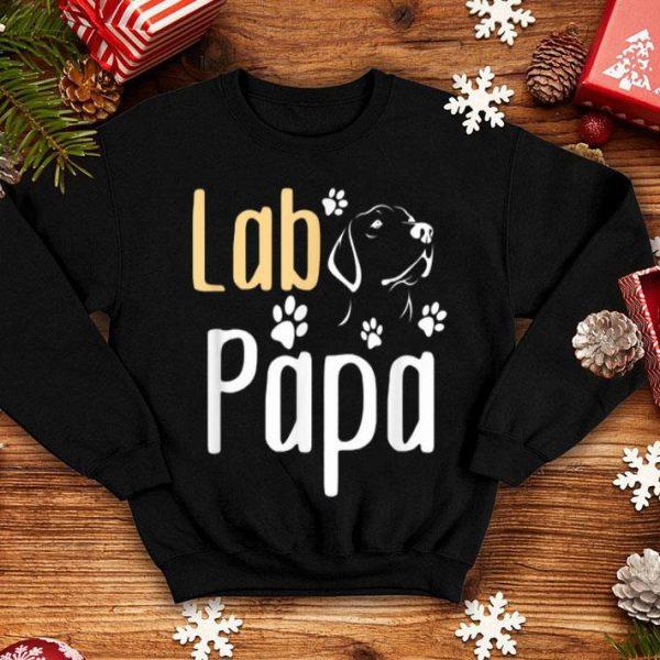Lab Papa Labrador Retriever Dog Fathers Day shirt