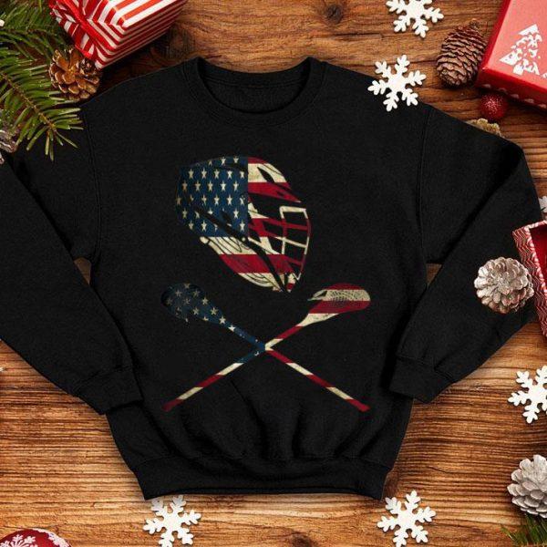 Lacrosse American Flag Lax Helmet And Sticks shirt