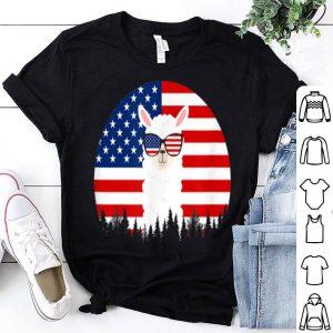 Llama Alpaca Sunglasses American Flag 4th Of July shirt