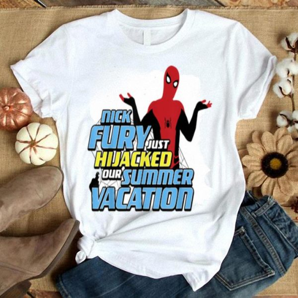 Marvel Spider-man Far From Home Hijacked Summer Portrait Shirt