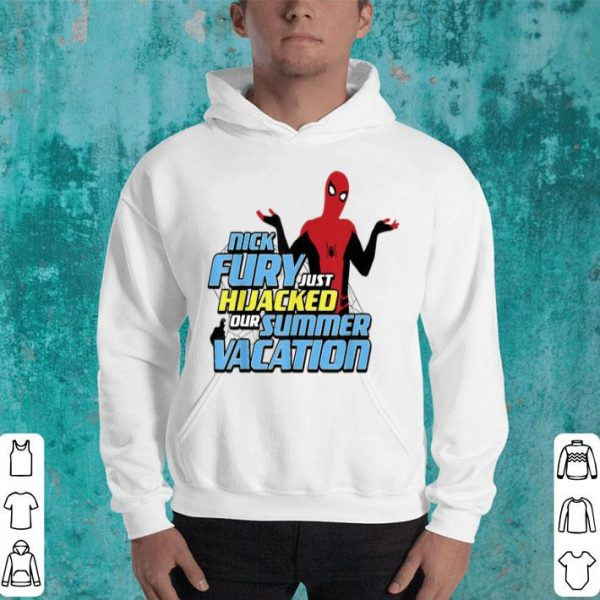 Marvel Spider-man Far From Home Hijacked Summer Portrait Shirt