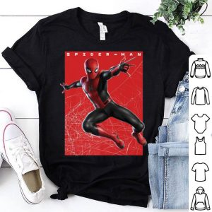 Marvel Spider-man Far From Home Web Swinging Poster Shirt