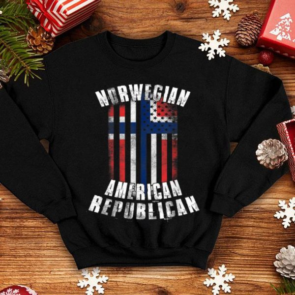 Norwegian American Republican Norway And Usa Flag Combo shirt