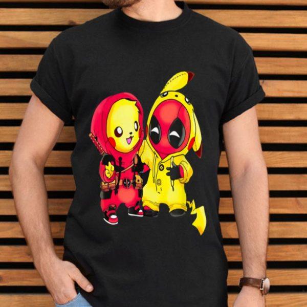 Pikapool Cute Pikachu Chibi Deadpool shirt