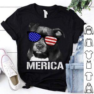 Pitbull Merica Patriotic Dog Pit Bull Gift Shirt