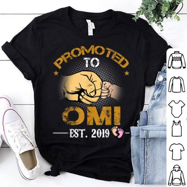 Promoted To Omi Est 2019 New Dad Fathers Day shirt