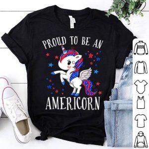 Proud To Be An Americorn 4th Of July Unicorn shirt
