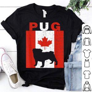 Pug Pug Canadian Flag 1st July Shirt