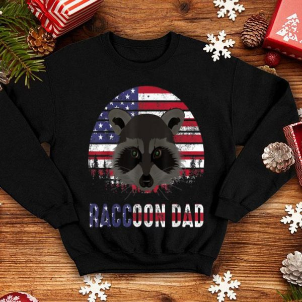 Raccoon dad 4th Of July Father Day American Flag shirt