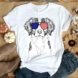 Remi The Brittany American Sunglasses Dog Shirt