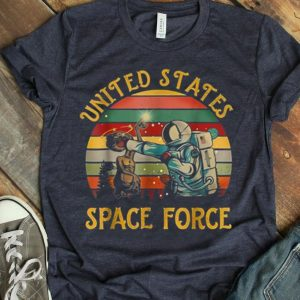 Retro Vintage United States Space Force Punch The Alien shirt