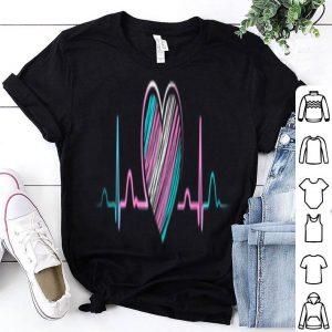 Transgender Gift Pride Flag Heart Beat Trans Heartbeat Shirt