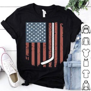 Vintage American Flag Hockey Clothing 4th July Shirt