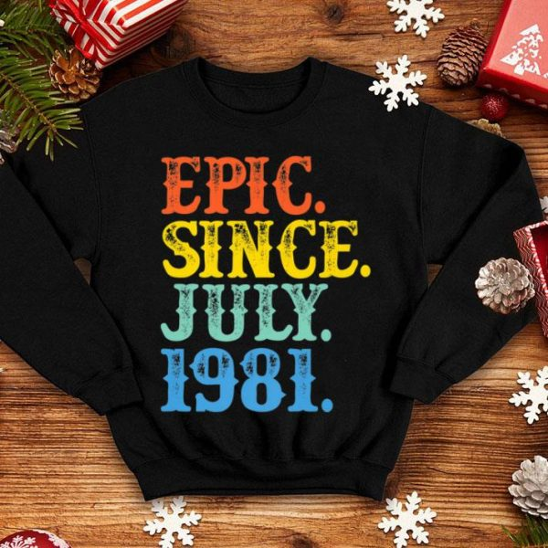 Vintage Epic Since July 1981 Birth Year Born Legendary Gifts Premium Shirt
