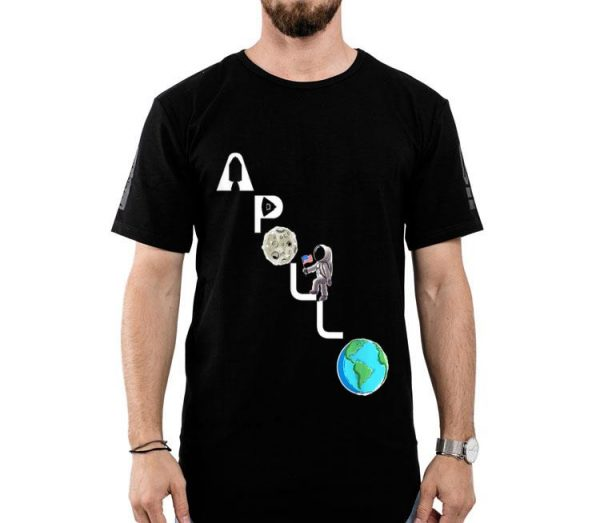 50th Apollo 11 Climbing Astronaut Moon Landing Classic First Step On The Moon shirt