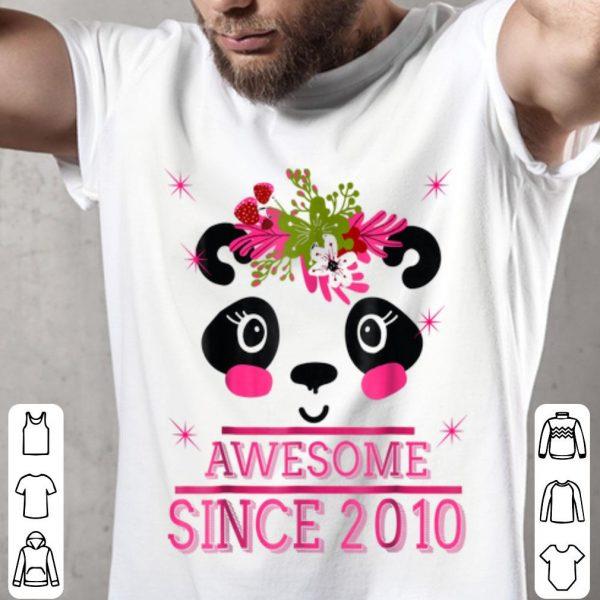 9th Birthday, Super Panda Awesome Since 2010 -s shirt